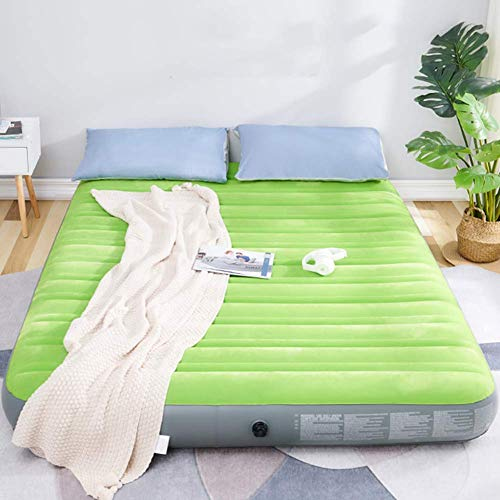 Portable Airbed Sustainable Outdoor Camping Inflatable Mattress Air Bed With Storage Bag,Gifts For Women Men Mom Dad,No Pump INCLUDED Green 188x99x22cm(74x39x9inch)