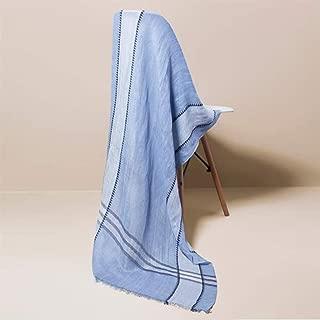 Xxadliy Women's Fashion Shawl Long Soft Wrap Shawl Wild Plaid Collar / 173x65cm (Color : Blue, Size : 173x65cm)