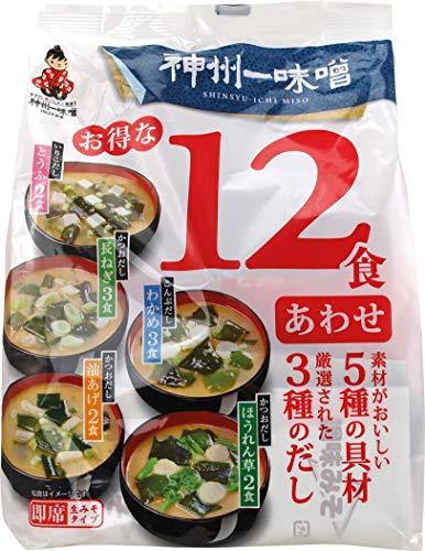 SHINSYUICHI Miso-Suppenpaste, dunkel - (Awase Miso), 12 Portionen, 193.1 g