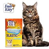 Fresh Kitty Durable, Easy Clean Up Elastic Jumbo Scented Odor Zorb Litter Pan Box Liners, Bags for Pet Cats, 10 ct