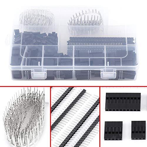1450Pcs Male Female Pin Connector en Behuizing Header Kit voor het maken van Jump Wire 2.54mm
