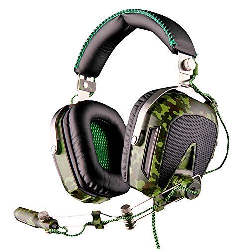 EPMR Casque d'écoute, Casque d'écoute respiratoire, Casque Filaire, Casque de Jeu à Prise USB 7.1 avec réduction du Bruit, avec Microphone et Carte Son USB Externe, adapté aux Jeux