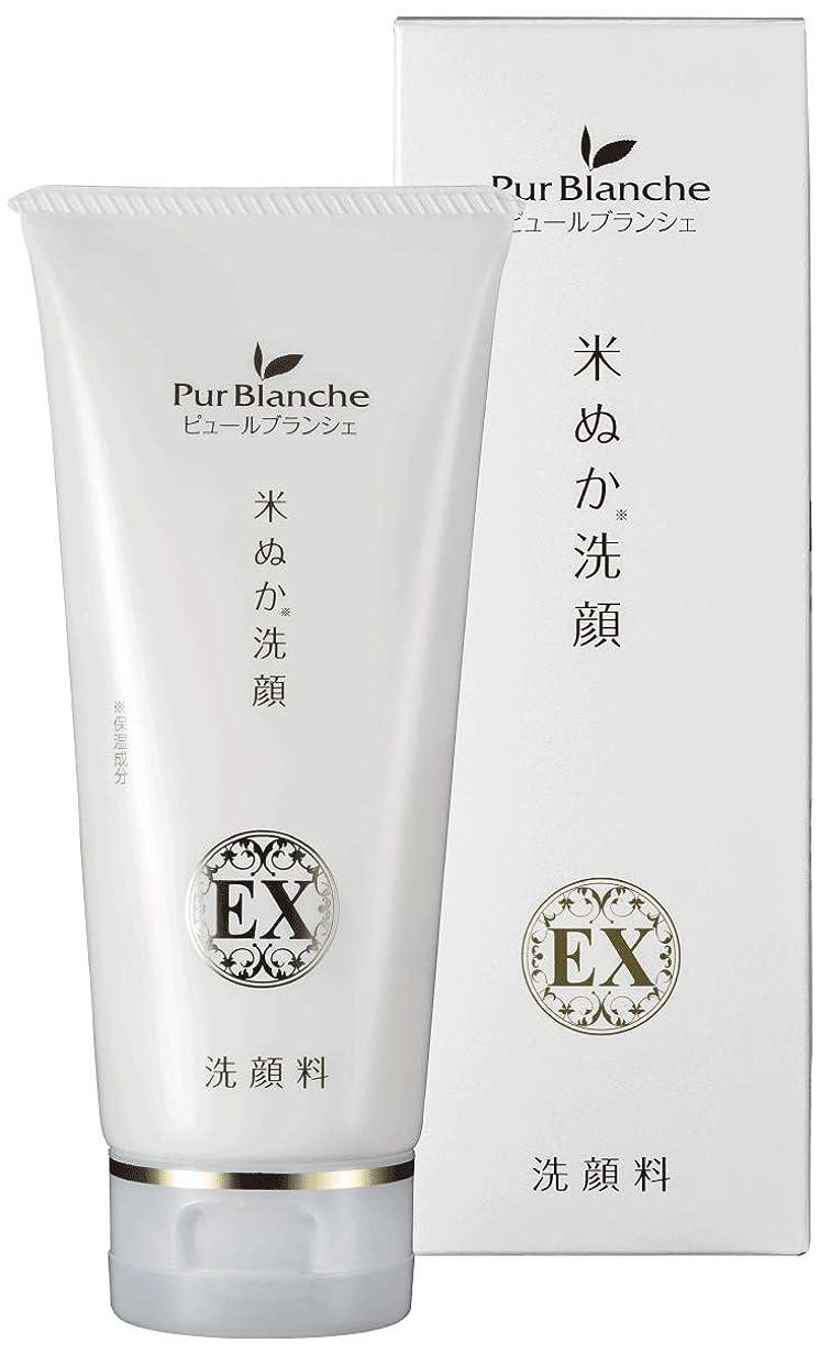 サスペンド出来事考えピュールブランシェ 米ぬか洗顔EX 100g (山形県のブランド米「つや姫」の米ぬかを使用)
