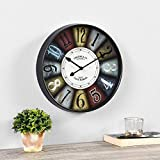 """SIZE MATTERS – Our FirsTime & Co. Colorworks Wall Clock has an 12"""" diameter and 2.0"""" depth, making it a great size for any space. IT'S IN THE DETAILS – This round clock is crafted of plastic with a flat glass lens. This indoor clock is a great additi..."""