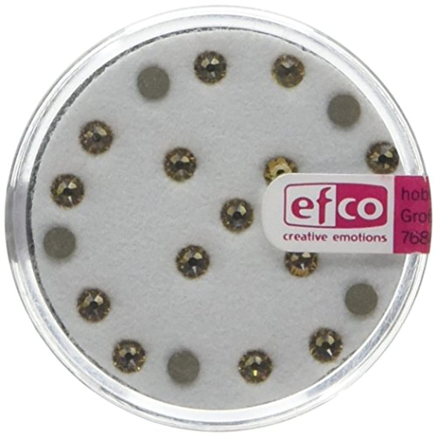 Efco Swarovski Strass Flat-Stones ? 3 mm 20 pcs. Light Colorado Topaz, 3 x 3 x 2 cm
