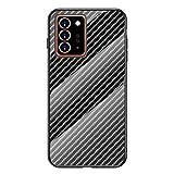 Grandcaser Galaxy Note 20 Ultra Étui,Ultra-Mince Advanced Fibre Carbone Texture Gradient Glass Box...