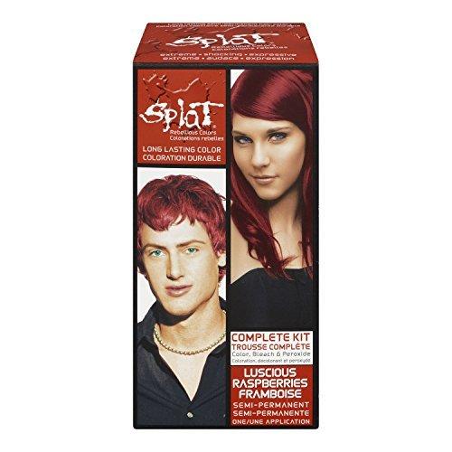 Splat Complete/Semi Permanent Hair Colour Kit Luscious Raspberry by Splat