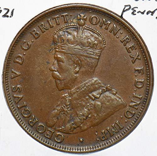 1921 AU Australia 1921 Georgivs V Penny 292872 DE PO-01