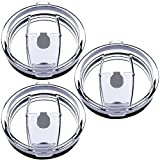 30 oz Tumbler Lids, Fits for YETI Rambler, Ozark Trail, Old Style Rtic and More, SENHAI 3 Pack Spill-proof Splash Resistant Lids Covers for Tumblers Cups (Gray)