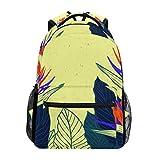 DXG1 - Mochila para mujer, hombre, adolescente, niña, escuela, bolso de hojas tropicales, libro de viaje, universidad, hombro, gran capacidad, 40,5 x 29 x 20 cm