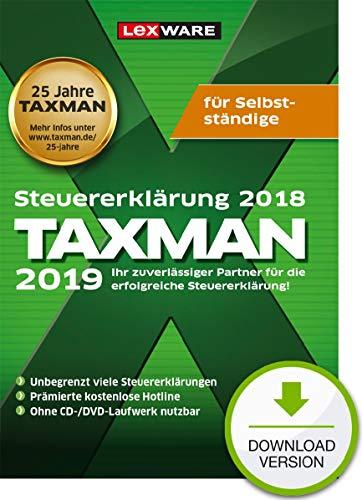 Lexware Taxman 2019 Download für das Steuerjahr 2018|Übersichtliche Steuererklärungs-Software für Selbstständige, Gründer und Unternehmer