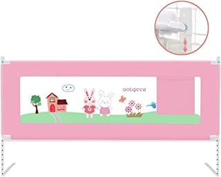 CXHMYC Cot fence  portable and foldable bed fence  8-speed booster design  adjustable 68-95 cm  anti-drop design  pink  size  2 0