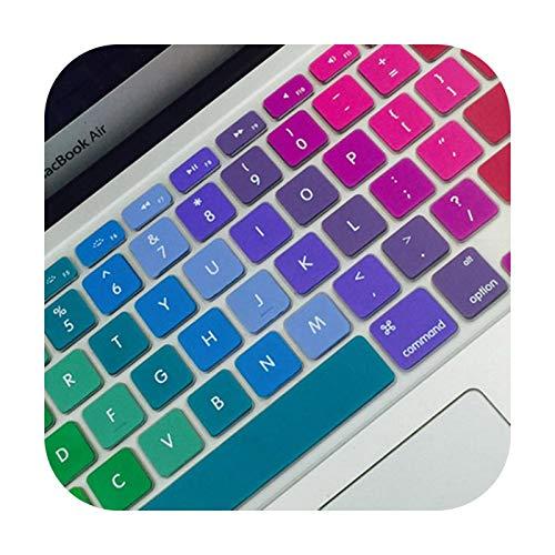 Super Colorato Silicone Tastiera Copertura Del Computer Portatile Pelle Notebook Protector Per 11  13  15  Macbook Air Pro Retina-12