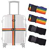 Correa de equipaje, maleta, mochila, cinturón, maleta fija, color arcoíris y negro.