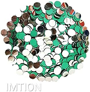 IMTION 200 Pcs Craft Decoration Mirror Round Shape Glass Mirror for Arts & Crafts Project Making, Decoration Stone for Emb...