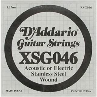 D'Addario Single Stainless Steel Wnd 048