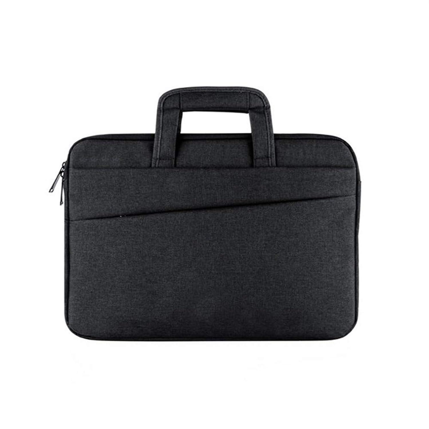 KIMIBen-CMB Laptop Briefcase, Men's Nylon Laptop Bag Waterproof Notebook Shoulder Messenger Bag Light Business Briefcase Travel and Luggage Bag Crossbody Shoulder Bag (Color : Black)