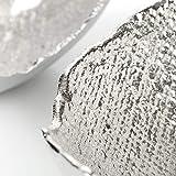 com-four® Deko-Schale aus Metall - Dekorative Design-Schüssel für Zuhause - Moderne Schale für Tischdeko, Obstschale, Servierplatte [Auswahl variiert] (rund) - 4