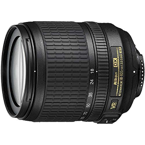 Nikon 18-105mm f/3.5-5.6 AF-S DX VR ED Nikkor Lens for Nikon Digital SLR Cameras (Renewed)