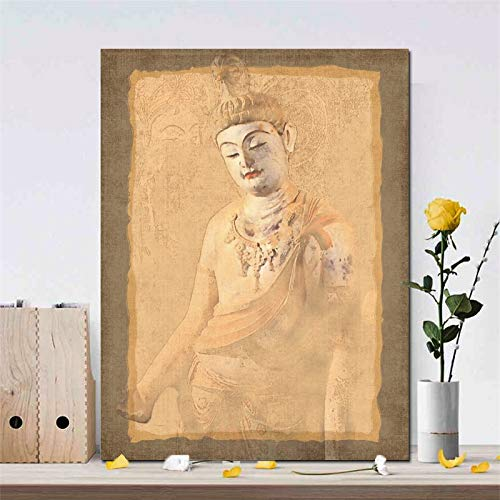 Sanzangtang Chinese mooie wandposters en wandafbeeldingen van Boeddha op canvas woonkamer decoratie schilderij frameloos