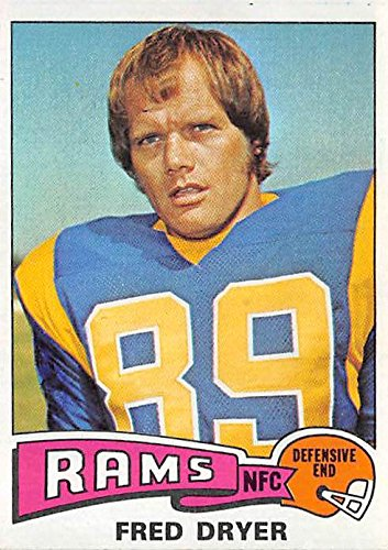 Fred Dryer football card (Los Angeles Rams Hunter TV ThornTS) 1975 Topps #312