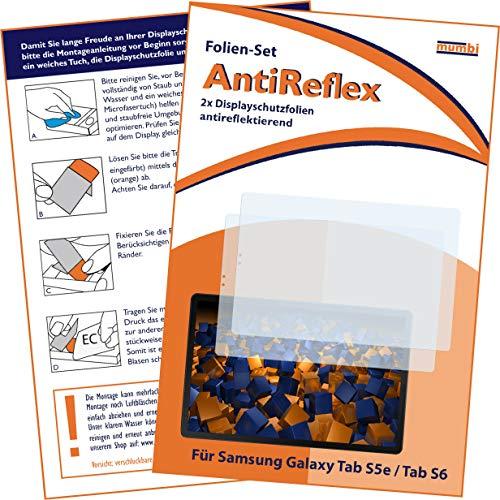 mumbi Schutzfolie kompatibel mit Samsung Galaxy Tab S5e / Tab S6, Folie matt, antireflektierend, entspiegelnd Bildschirmfolie Bildschirmschutzfolie (2x)