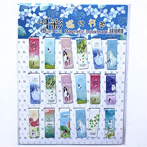 wenjuersty 18pcs Kawaii Karikatur Neuheit Schule Lesezeichen Schreibwaren Kühlschrank Aufkleber
