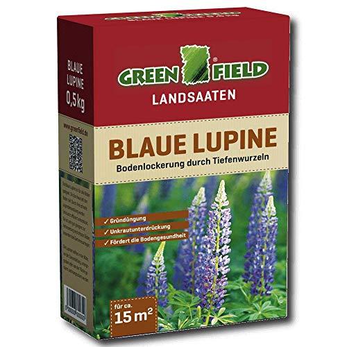 Greenfield 63725 Bleu Lupine 500 g pour env. 15 qm - pour tous Etages convient