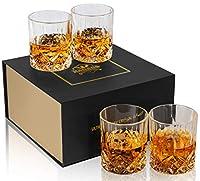 kanars bicchieri whisky, bicchiere cocktail e whiskey cristallo, bellissimo regalo, set di 4 pezzi, 300ml