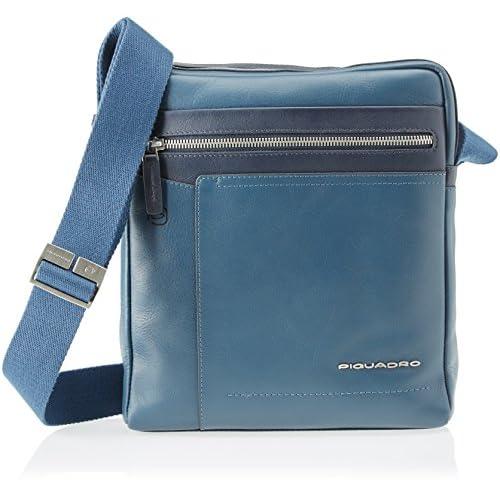 PIQUADRO Ca4111w82, Borsa Messenger Uomo, Blu, 7x27x23.5 cm (W x H x L)