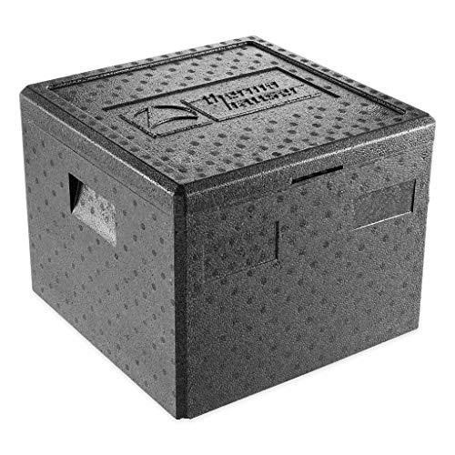 thermohauser EPP-Thermobox Pizza schwarz, mit Deckel, 32,5 L