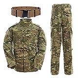 Uniformes tácticos, QMFIVE Camuflaje Camo Camo Combat BDU Chaqueta Camisa y Pantalones Un...