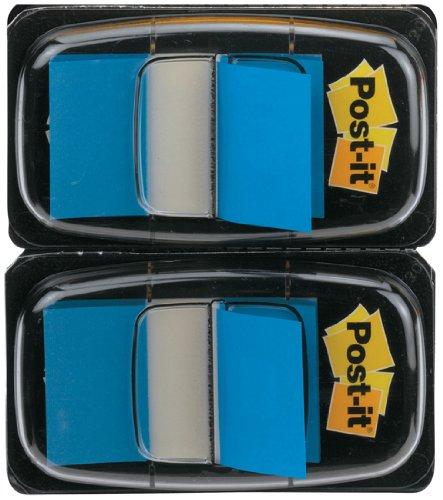 Post-it 680-B2EU – Marcapáginas (25,4 x 43,2 mm, 2 dispensadores), color azul