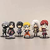 LJUCTD 6pcs Naruto Sasuke Pop Estatuilla Set Figuras Pequeñas Juguete D Ajedrez