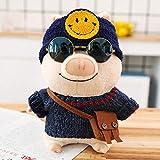 WWWL Juguetes de Peluche Dibujos Animados Lindo Cerdo con Ropa Peluche Juguetes Rellenos Kawaii Animal Doll Soft Baby acompañar Almohada para niños niñas Regalo de cumpleaños 25CM 14