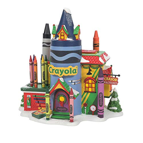 Department 56 North Pole Series Crayola Crayon Factory Lighted Buildings