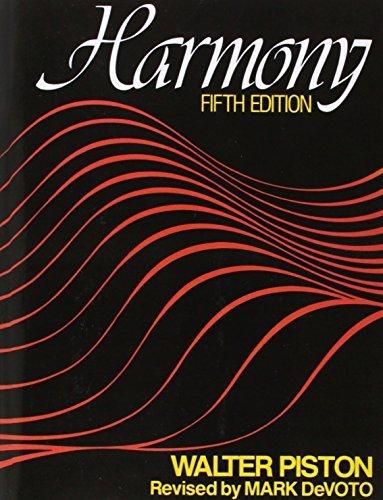 Harmony: Fifth Edition by Walter Piston (1987-03-17)