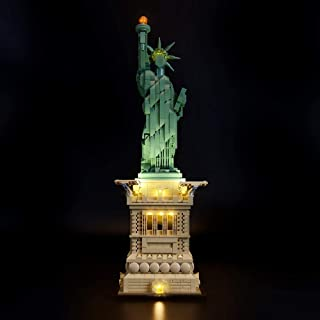 BRIKSMAX Led Lighting Kit for Architecture Statue of Liberty- Compatible with Lego 21042 Building Blocks Model- Not Include The Lego Set