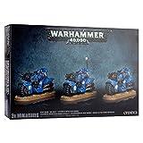 WARHAMMER 40,000 SPACE MARINE BIKE SQUAD (X3)