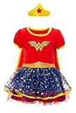 Warner Bros. Wonder Woman Toddler Girls Costume Cape Dress Headband Set 3T