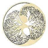 HolzBIBER® - Albero di Yin Yang della vita, diametro 20 cm, prodotto in Germania, con apertura in legno da appendere, decorazione da parete