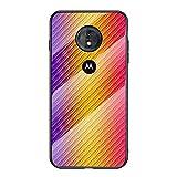 Grandcaser Motorola Moto G6 Play Étui,Ultra-Mince Advanced Fibre Carbone Texture Gradient Glass Box...