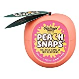 Ridley's Peach Snaps! Fun Card Game for Families, Action-Packed, Fast-Paced Game for 2+ Players, Includes Game Cards and Unique Peach-Shaped Storage Case, Simple Card Game for Kids Ages 6+