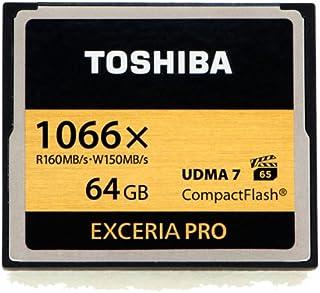 Toshiba Exceria Pro CompactFlash 64GB High-speed Memory Card (THNCF064GSGI)