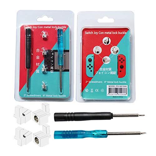 JICHUI Professionelle Reparatur-Werkzeug Teile Alloy Buckle Sperre Kit für NS Nintend Schalter NX Joy-Con-Controller mit 2 Stück Schraubendreher