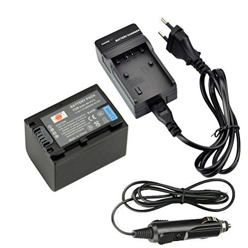 DSTE Repuesto Batería y DC04E Viaje Cargador kit para Sony NP-FV70 DCR-SR15...