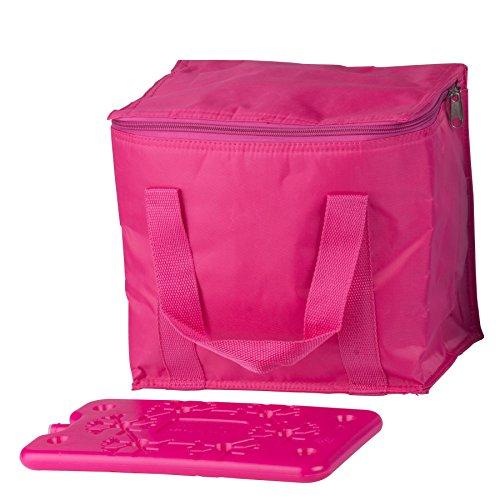 Gekleurde mini 7 liter koeltas isolatietas thermotas picknicktas met vlakke gekleurde 350 ml koelelement koelelement