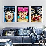 Figuras creativas nórdicas impresiones en lienzo imágenes carteles artísticos de pared modernos pinturas para dormitorio sala de estar decoración del hogar-40x60cmx3 sin marco