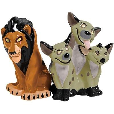 Westland Giftware Magnetic Ceramic Salt and Pepper Shaker Set, 3.25-Inch, Disney Scar and Hyenas, Set of 2 from Westland Giftware