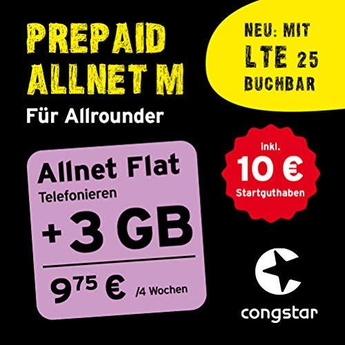 congstar Prepaid Allnet M Paket [SIM, Micro-SIM und Nano-SIM] – Das Prepaid-Paket für Allrounder in guter D-Netz-Qualität